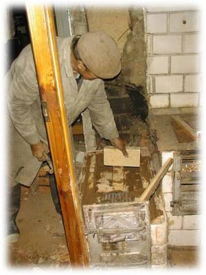 Stavba šamotových kamen