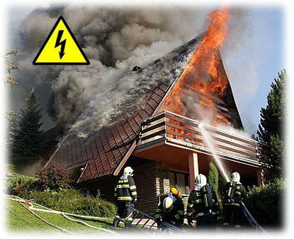Stará elektroinstalace může způsobit ve spojení s elektrickými krby požár